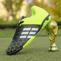 2018 männer Junge Kinder Fußball Stollen Rasen Fußball Fußball Schuhe TF Harte Gericht Turnschuhe Trainer Neue Design Fußball Stiefel Größe 31-43