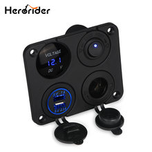 Зарядное устройство с двумя usb разъемами herorider 12 В + выключатель