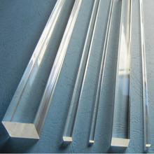 25x25x1000mm 아크릴 정연한 막대 명확한 (내 밀린) 플라스틱 투명한 막대기 플렉시 유리 막대 홈 LED 장식 수족관 Perspex 가구