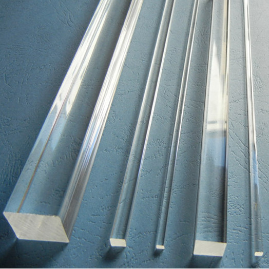 25x25x1000mm Acrylic Square Rod Clear (Extruded) Plastic Transparent Bar Home LED Decor Aquarium Perspex Furniture
