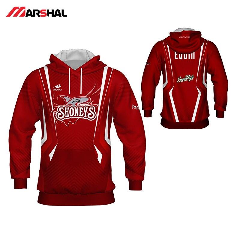 fa0044947f Personalizado sublimación hombres rojo blanco sudaderas formación suéter  2018 nuevo diseño Sudadera con capucha