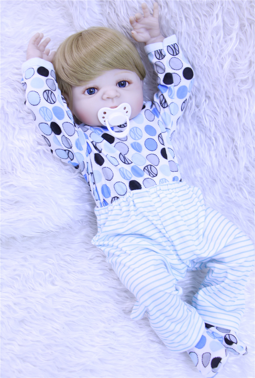 22-23inch Boneca Bebe Reborn Doll 55cm Full boy Body Silicone Doll Baby Real alive Bebe Reborn Menino blue eyes for girls toy 22 55cm cute giraffe boy silicone reborn baby dolls for girls 55cm bonecas bebe reborn soft menino blue eyes bebek bjd lol