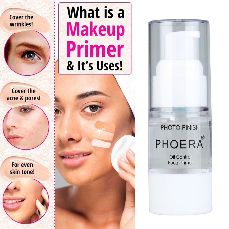 PHOERA Make Up Primers Isolation Day Cream Pore Perfect Primer Oil Control Lasting Moisturizing Whitening Concealer Makeup Milk