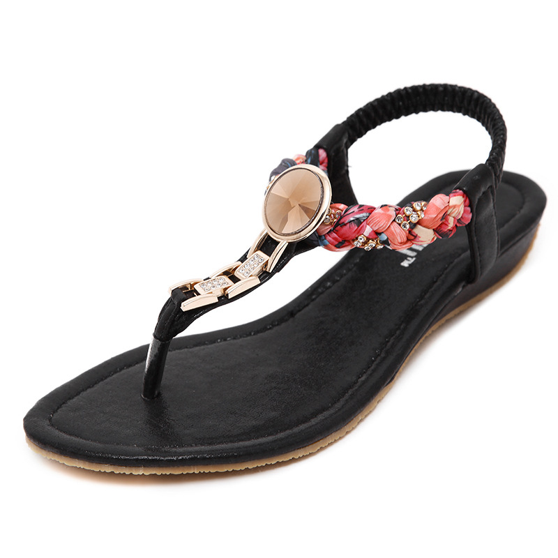 SIKETU Ethnic Female Summer Sandals Shoes Women Bohemian Style 2017 Beach Vacation Ladies Conveinent Cool Sweet Sandal Size35-41