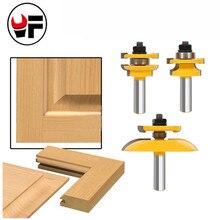 "3Pcs 1/2"" Shank Rail & Stile Ogee Blade Cutter Panel Cabinet Router Bits Set Milling cutter Power Tools Door knife Wood Cutter"