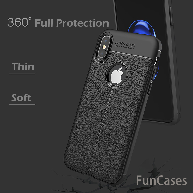 For iPhone X Case 5.8 inch Luxury Ultra-Thin Soft TPU Leather Design Cases For iPhone 10 Case For iPhone X Silicon Phone Case