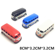 Korean Mini Plastic Pull Back Blue Green Yellow Red Tayo Bus Random Color Anime Oyuncak CarTayo The Little Bus Model(China)