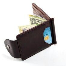 Засов корея деньги коричневый клипы серый кошельки качества высокого моды цвета