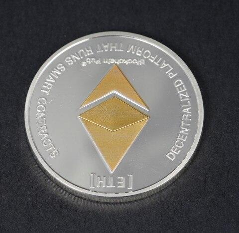 Копия золотистой/серебристой монеты эфириума, коллекция искусства, подарок, физическая металлическая Античная имитация, копия невалютных монет, коллекционные монеты|Безвалютные монеты|   | АлиЭкспресс