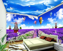 beibehang Custom large fashion super smooth silk cloth wallpaper lavender personality full house background papier peint behang