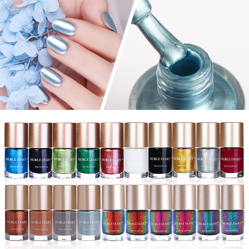 The Nail Art And Beauty Diaries: 5/6/8 Bottles NICOLE DIARY Nail Polish Chameleon
