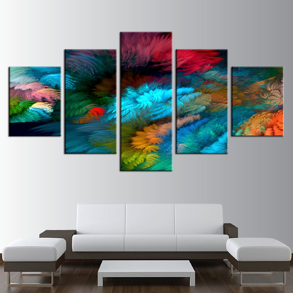 Hd Prints Modular Canvas Paintings Frame Home Wall Art 5