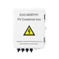 4 String PV Combiner коробка с устройство молниезащиты 10A выключатель Универсальная Солнечная панель Разъемы для Off grid солнечной системы