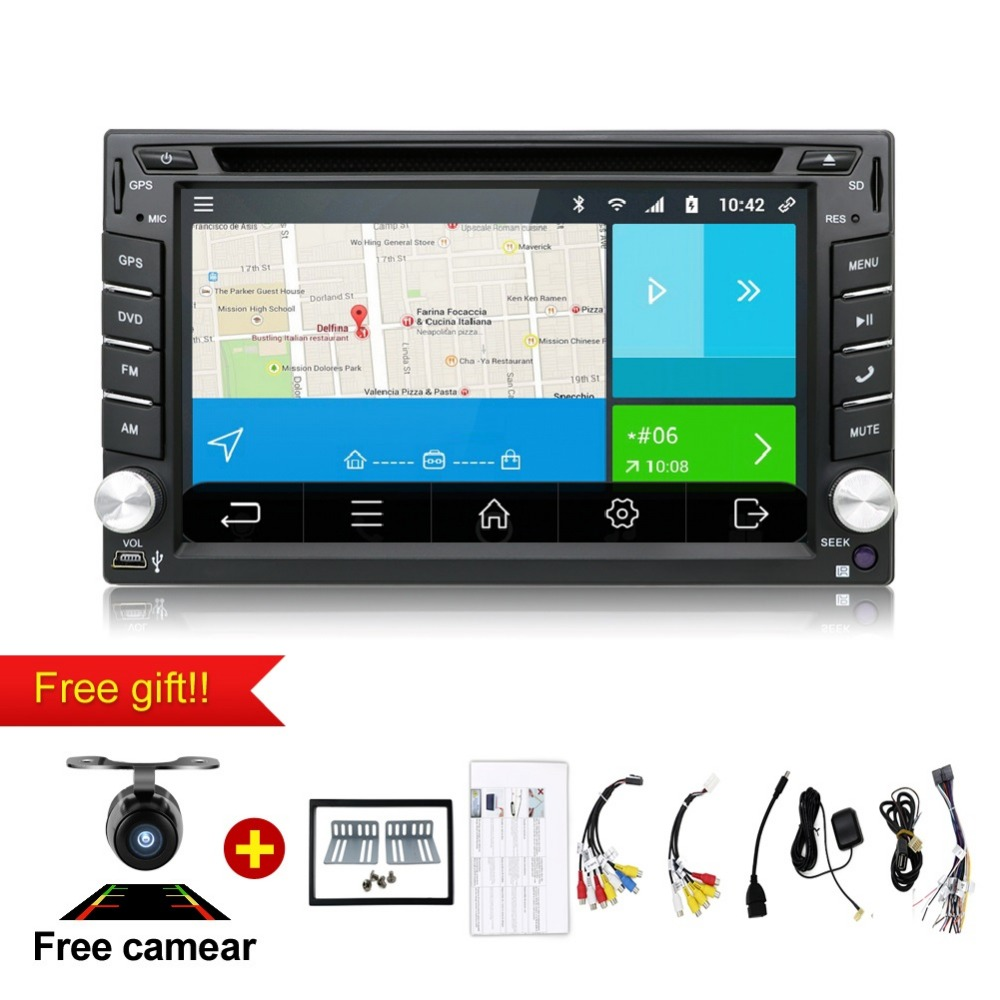6 2 Android 6 0 WIFI Universal In Dash HD Touch Screen font b Car b