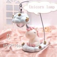 Night Light Cute Unicorn Bule/Red Kids Children Livingroom Decoration Desktop Lamp Gift Toys For Baby