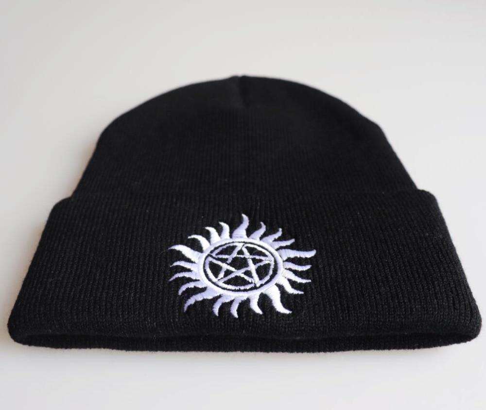 Supernatural Knitted hat set Supernatural keep warm plush hat Unisex SPN Wool cap