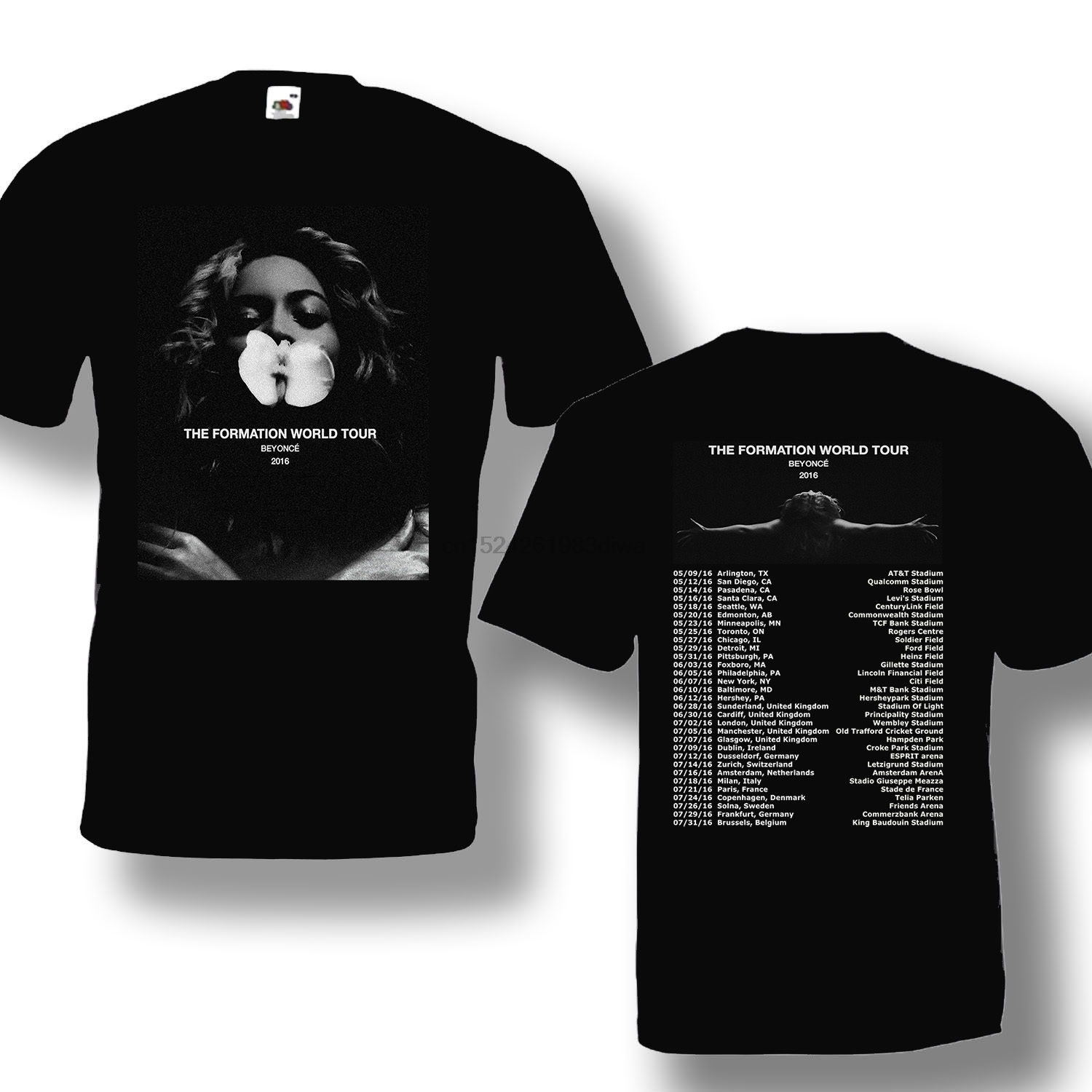 Us 12 99 Aliexpress Com Buy The Formation Tour 2016 Beyonc Black T Shirt Short Sleeve Cotton From Reliable T Shirts Suppliers On Najiawang001
