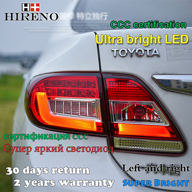 Hireno Tail Lamp for Toyota Corolla 2011 2012 2013 Taillight Rear Lamp Parking Brake Turn Signal Lights led hireno tail lamp for toyota land cruiser lc70 fj77 78 79 rj77 1991 1996 taillight rear lamp parking brake turn signal