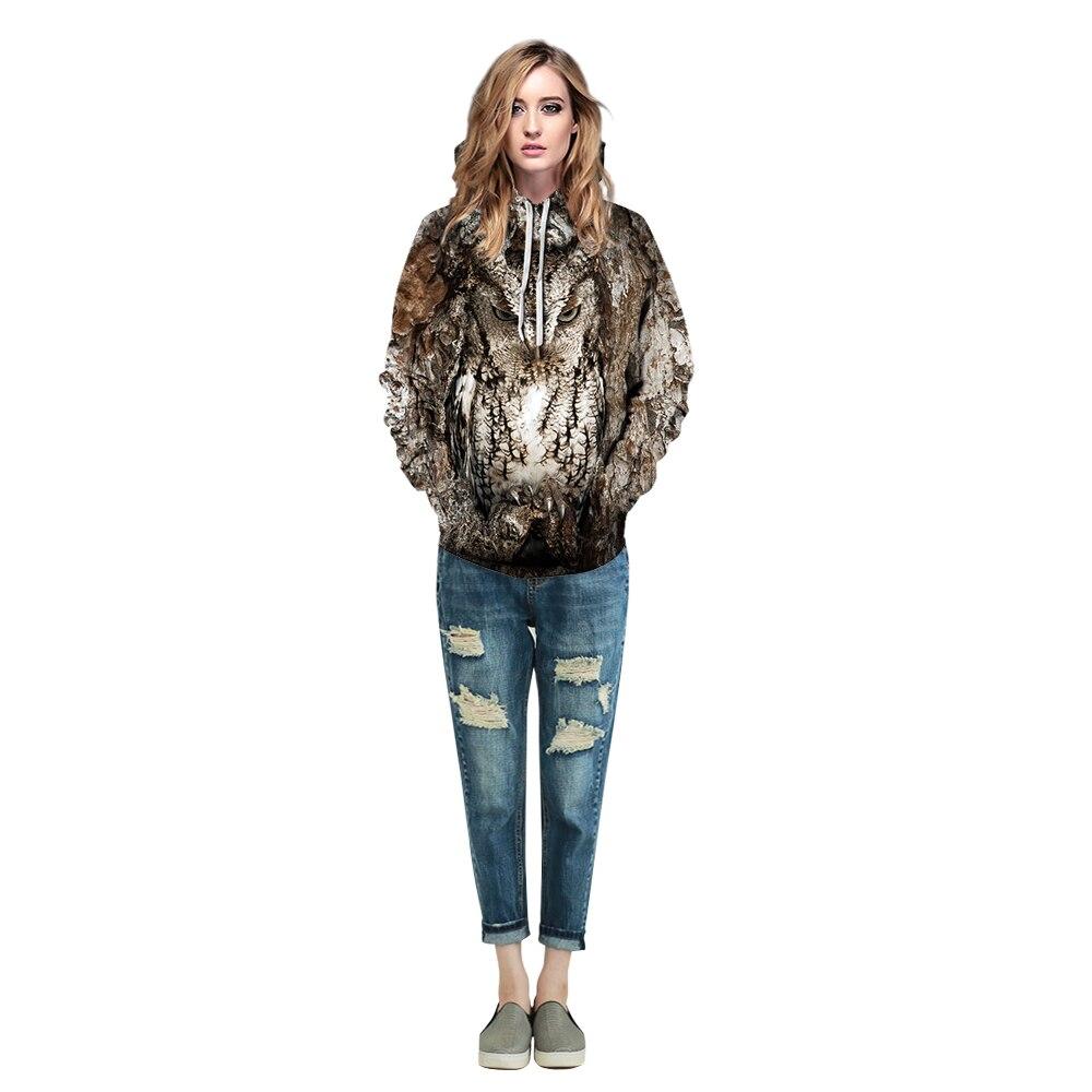 Image 5 - Women/Men 3D Owl Print Hoodie Winter Casual Pullover Hooded Long Sleeve Sweatshirt Clothing Fashion Tracksuits Animal StreetwearHoodies & Sweatshirts   -