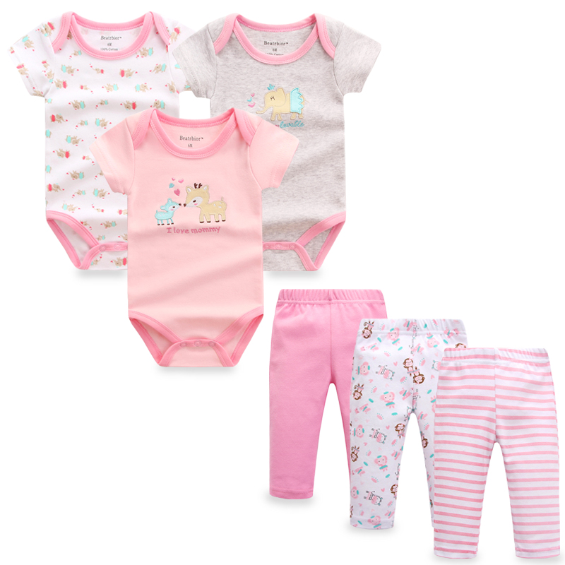 2017 New Summer Baby Girl Clothes 6 Pieces/set Baby Boy ...