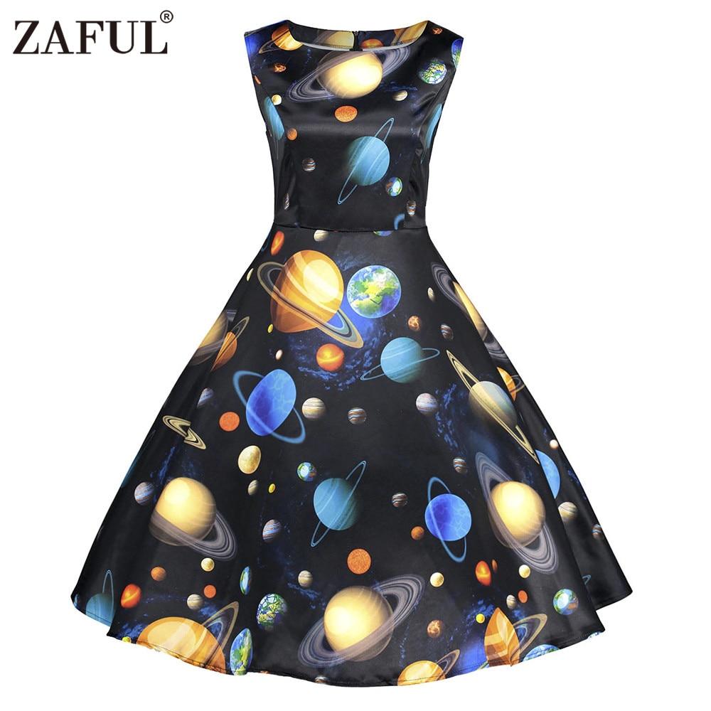 Aliexpress.com : Buy ZAFUL New Planets Print Summer Dress ...
