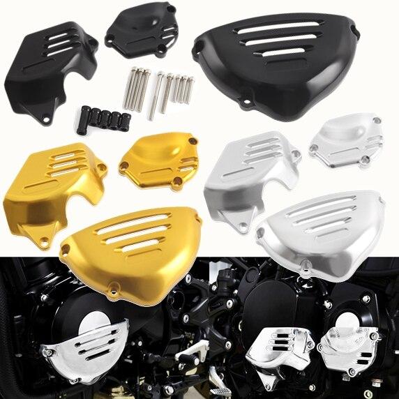 Or/noir/argent moto CNC moteur boîtier garde cadre latéral curseur Stator couverture protecteur pour Kawasaki Z900RS 2018 Z 900RS