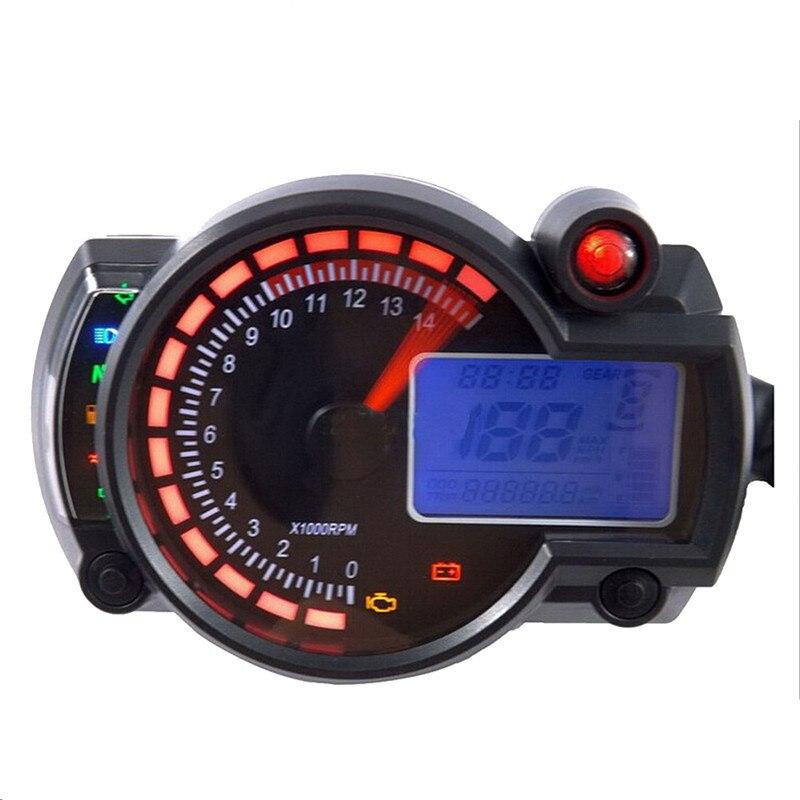 Vente chaude Nouveau 14000 rpm Moderne RX2N Similaire LCD Moto Numérique Kilométrage Indicateur De Vitesse Réglable MAX 299 KM/H