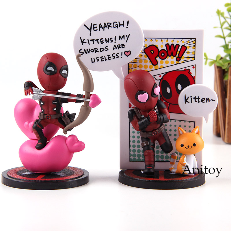Marvel Comics Deadpool Figure Hot Toys Mini Egg Attack Series MEA-003 / MEA-006 PVC Action Figures Collection Model Toy жакеты mary mea жакет