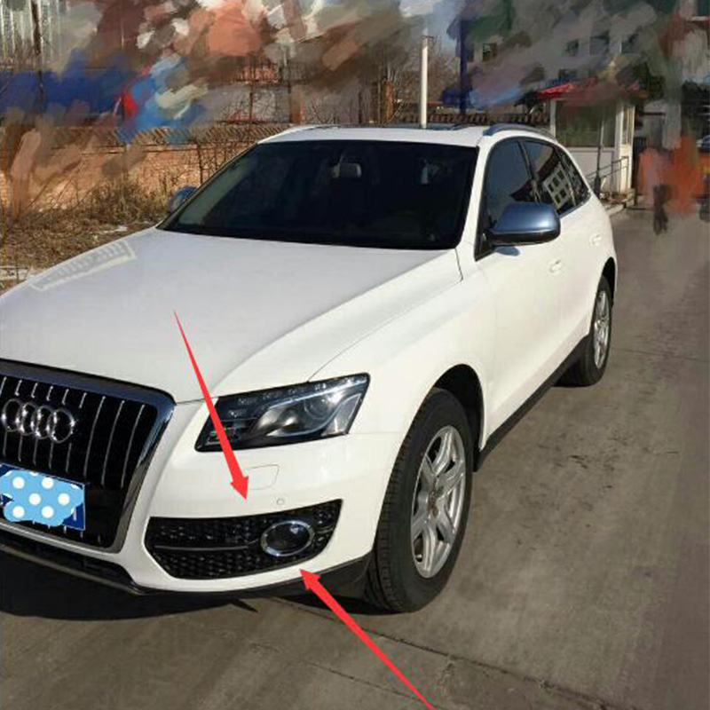 For Audi Q5 Modified RSQ5 Style Front Fog light fog lamp Trim Grille Grill Car Styling 2008-2013 Standard Bumper stainless steel car racing grills for mazda cx 5 2013 2016 front grill grille cover trim car styling