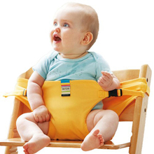 Portable Baby Feeding High Lunch Chair Cover Chair Foldable Kids chair Infant Baby Seats Toddlers Children Safety Belt Seat (China)