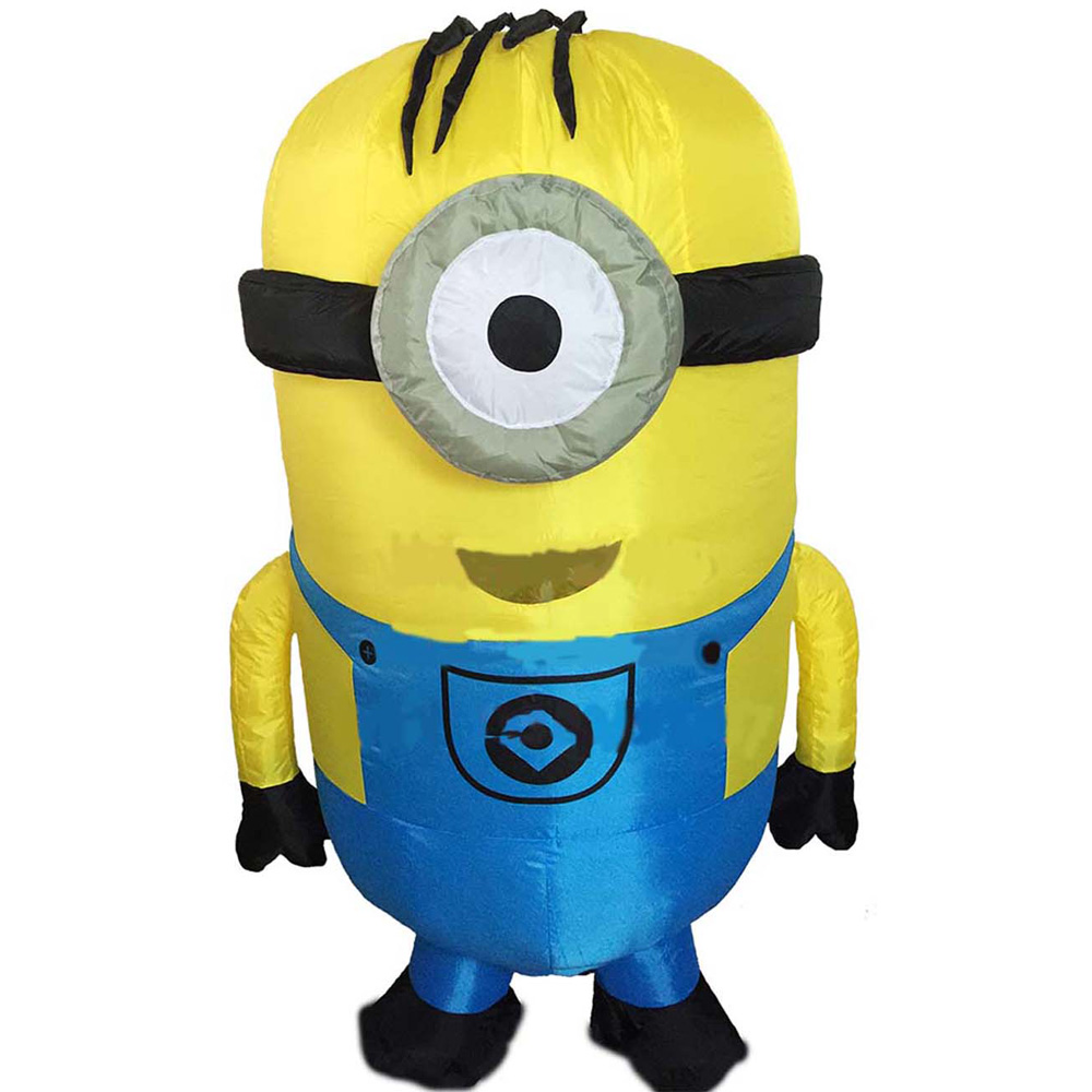 Inflatable Minion Costume Halloween Costumes for Adults Inflatable Despicable Me Minion Costume Christmas Minion Mascot Costume in Anime Costumes from Novelty Special Use