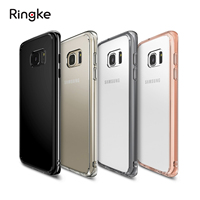 100 Original Ringke Fusion Case For Samsung Galaxy S7 Edge Clear PC Back TPU Frame Drop