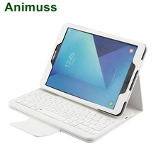 Animuss Lychee PU Leather Removable Wireless Keyboard Magnetic Stand Folio For Galaxy S3 9.7 T820 цена и фото
