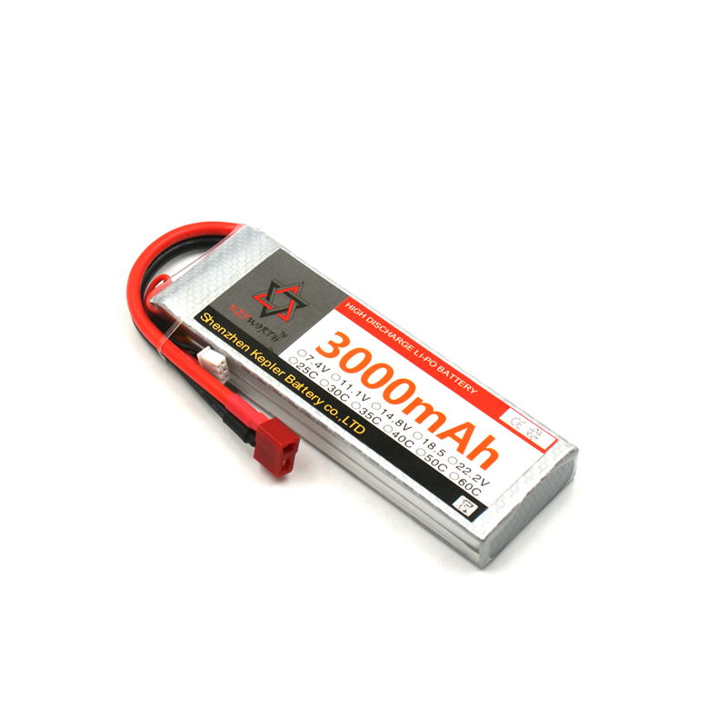 <font><b>Lipo</b></font> <font><b>Battery</b></font> 2s <font><b>7.4v</b></font> <font><b>3000mAh</b></font> RC Car Plane Boat Lithium Ion Polymer <font><b>Battery</b></font> For Truck Tank Drone Helicopter image
