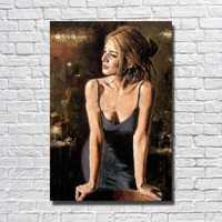 Hand made Cheap Modern Oil Painting Living Room Wall Picture Large Canvas Paintings Sexy Lady Wall Art No framed