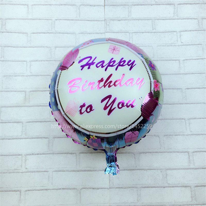 XXPWJ free shipping Hot 18 inch round aluminum birthday balloon birthday party d