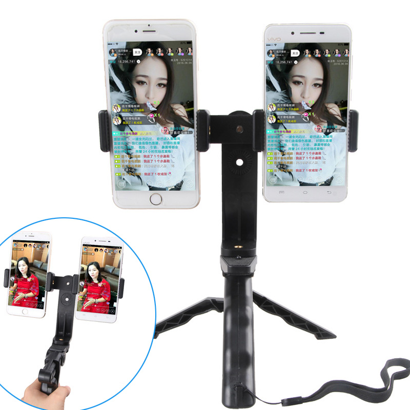 New Mini Tripod with Dual-position Bracket Holder for Mobile Phones Stand Support Tripod for Video Bloggers Live Streaming image