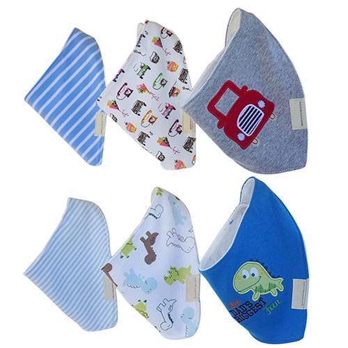 3Pcs Baby Boys Girls Bibs Toddler Bandana Triangle Head Scarf Cute Saliva Towel