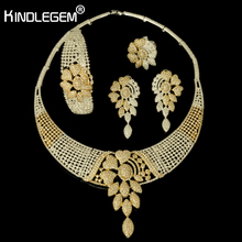 hot deal buy 2018 new high fashion dubai jewelry set silver gold color nigerian wedding african beads jewelry sets parure bijoux femme