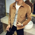 Hot sale 2016 new fashion autumn male casual jacket solid fall mens jackets and coats men's jacket plus size 3XL 4XL 5XL