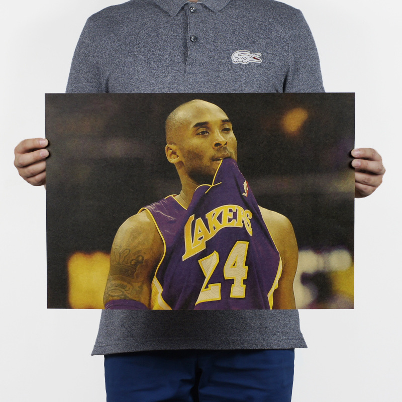 fea1f6b74ab New Custom Lakers Sticker KB 24 Poster Home Decor Retro NBA Basketball  Player Posters Kobe Wall Sticker