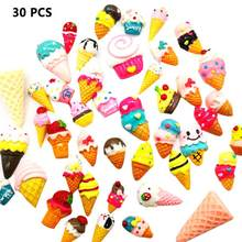 30 Pieces Slime Charms Mixed Ice Cream Series Beads Slime Bead Making Supplies For DIY Collage Crafts(China)