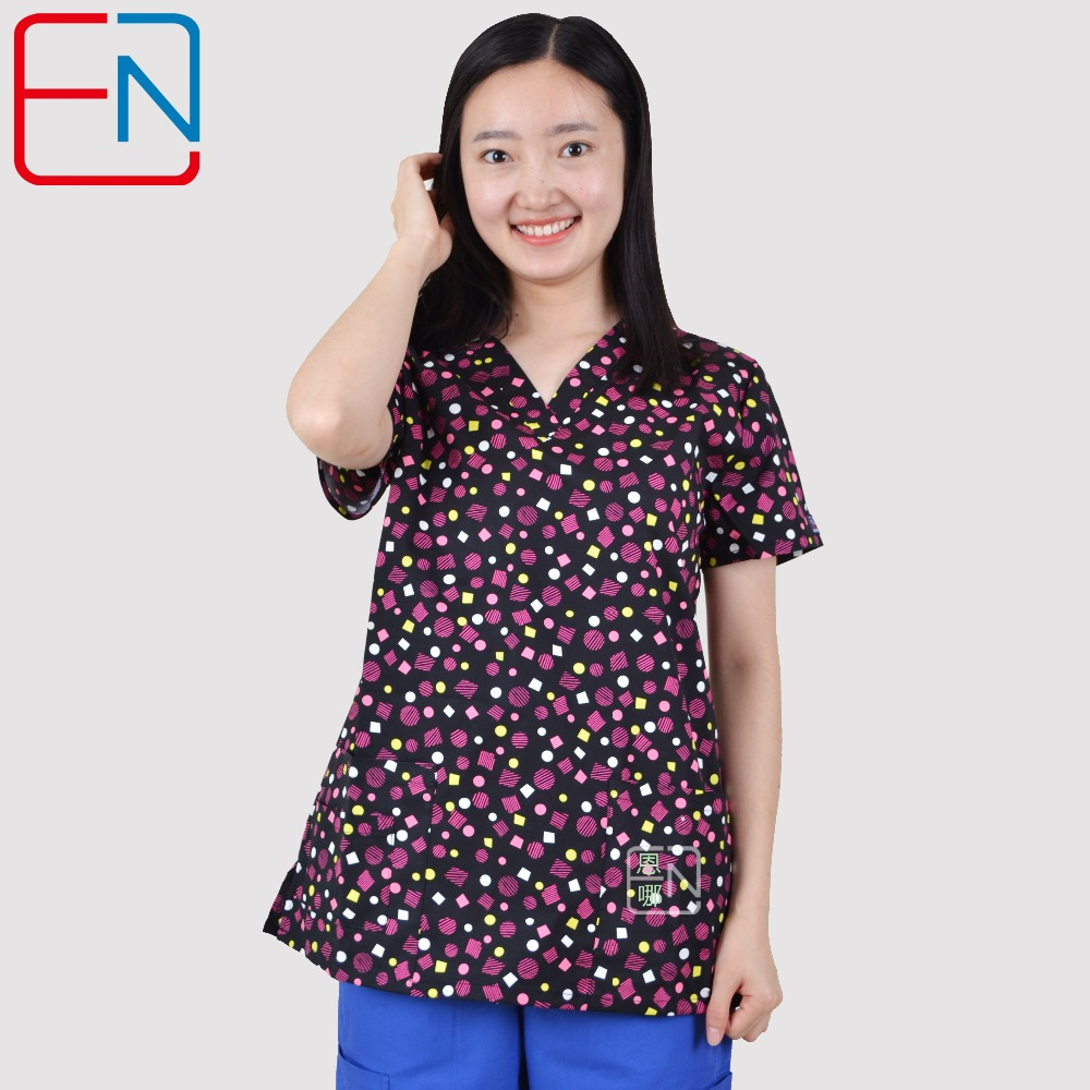 Hennar Sieviešu medicīniskās skrubja virsmas ar 100% kokvilnas skrubjiem, sieviešu skrubja virsmām, sieviešu medicīniskajām uniformām
