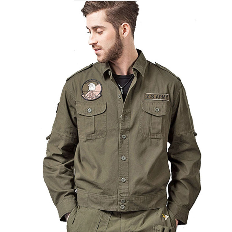 Casual Jacket Tooling Coat Designer Multipocket Ourwear Malitary Men's Plus-Size Fashion