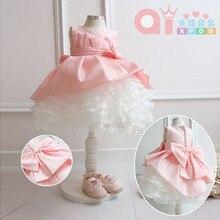 Новая детская свадебное платье жилет принцесса dresschildren половинной длины tutudress, выполняющих обслуживание