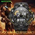SANDA Correa de Caucho LED Digital Cuarzo de Los Hombres Reloj Deportivo Militar Del Ejército reloj de Cuarzo Reloj de Pulsera Impermeable de Los Hombres Relogio Masculino