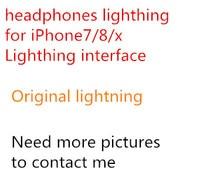 10pc/Original Headphones for iPhone7 / 8 / x / plus Headphones Remote Controlled Microphones DHL Transport Retail Packaging