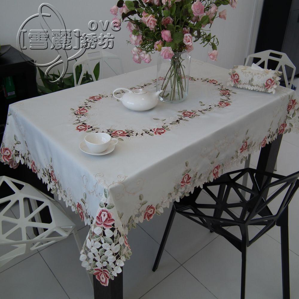 Деревенский моды вышивка ткани вышитые обеденный стол скатертью коврик скатерть вырез крышки полотенце красочные роза