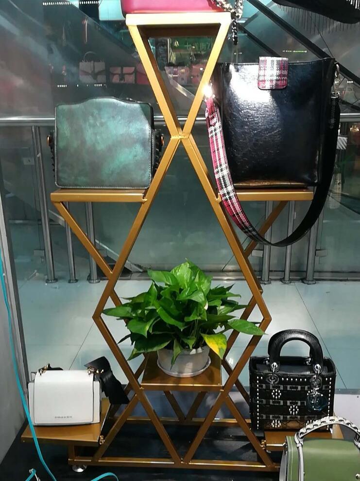 Tieyi витрина посылка стойка, ретро магазин одежды обуви крышка потока стол дизайн и расположение шкаф - 5