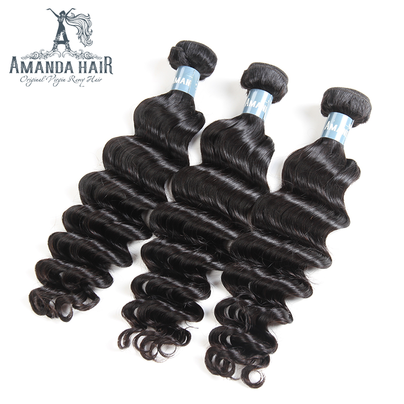 Peruvian Loose Deep Wave Bundles Virgin Human Hair Extensions for Salon Longest Hair PCT 15% Peruvian Virgin Hair